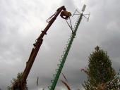 Wind turbine installation in Vecumnieki