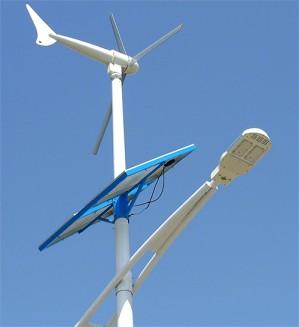 solar and wind hybrid street light